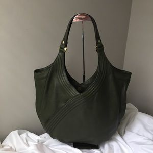 orYANY Tracy Italian Leather Hobo - Forest / Olive